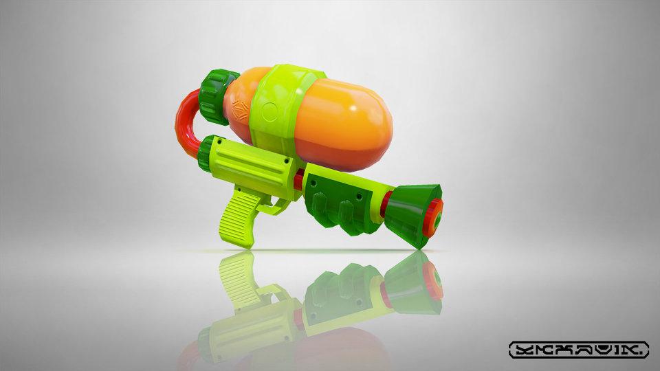 Target限定のWiiU『Splatoon(スプラトゥーン)』購入特典はロゴ入りの特製「水鉄砲」