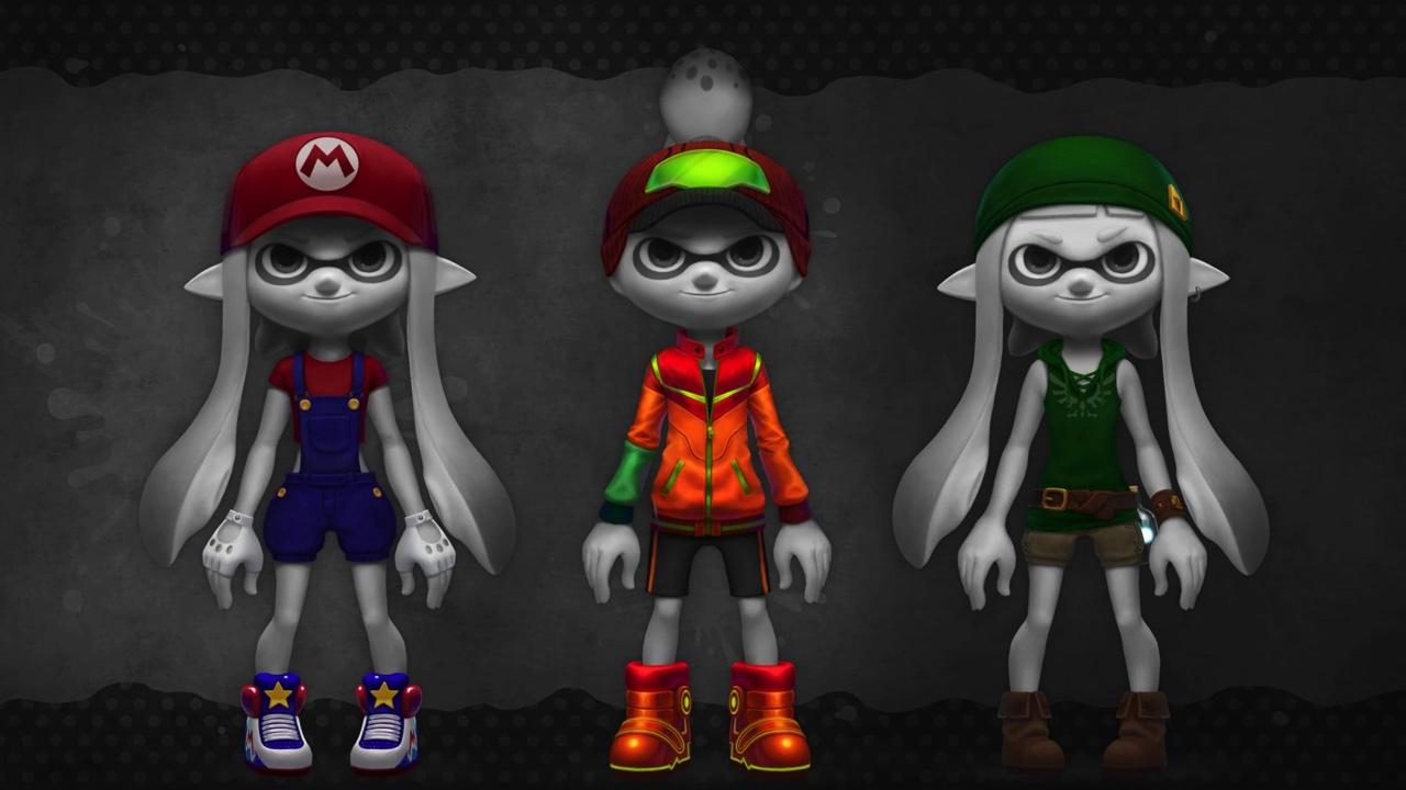 ファンアート:『スプラトゥーン』×『amiibo』キャラクターコラボギアのコンセプト、マリオ、サムス、リンク