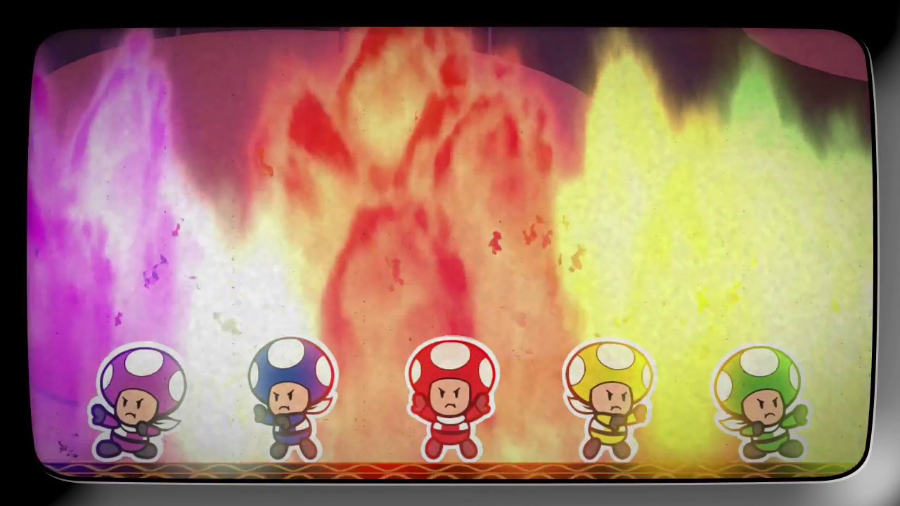 WiiU『ペーパーマリオ カラースプラッシュ』、懐かしの戦隊モノ風にキノピオたちレスキュー隊の活躍を描く紹介映像 その1