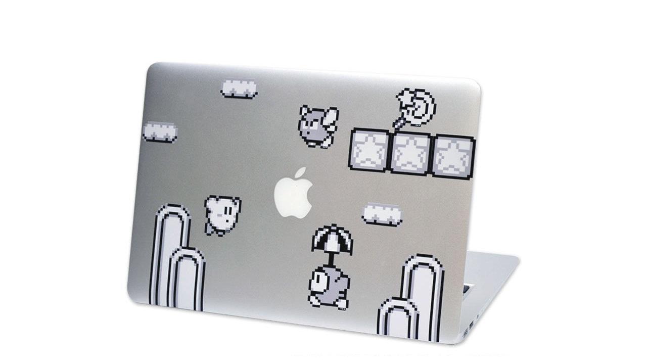 ゲームボーイ風モノクロドット絵が可愛い、MacbookやiPadに貼って楽しめる『星のカービィ』ステッカー