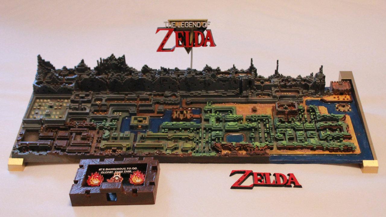 初代『ゼルダの伝説』のハイラルが3Dプリントによって緻密に立体再現