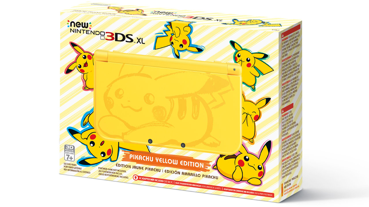 New Nintendo 3DS XL Pikachu Yellow Edition (Newニンテンドー3DS LL ピカチュウ【イエロー】)
