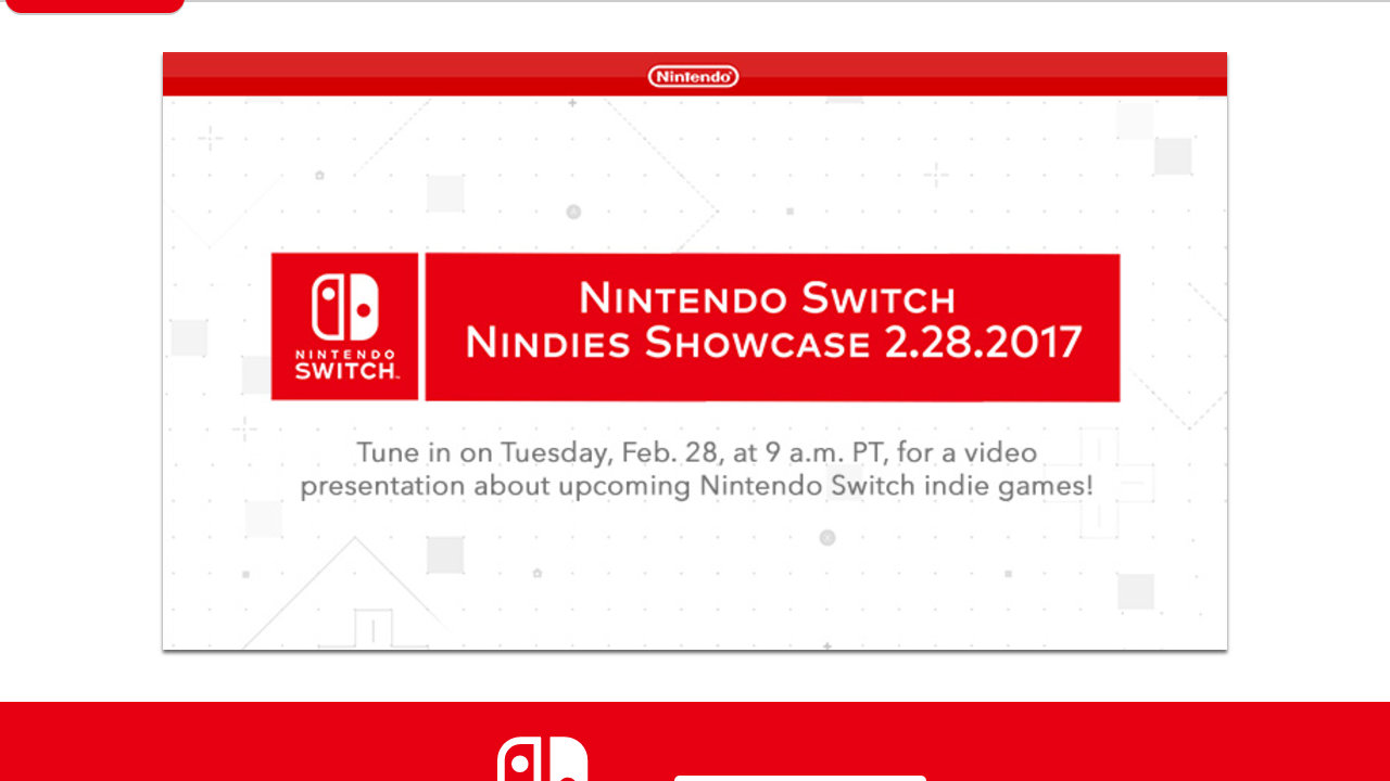Nintendo Switch - Nindies Showcase 2.28.2017