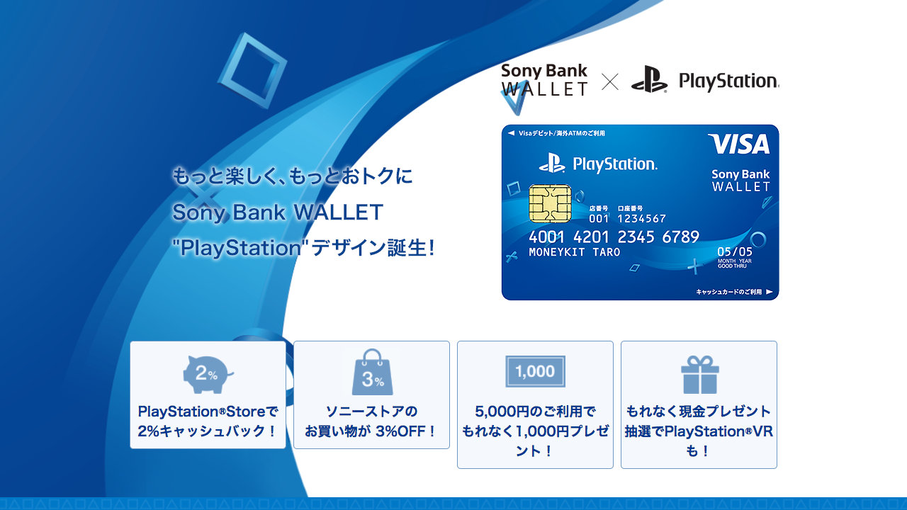 """Sony Bank WALLET / """"PlayStation""""デザイン"""