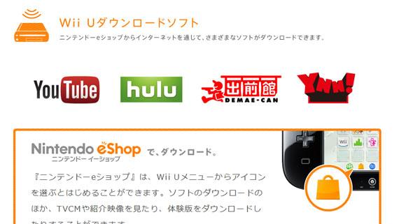 Wii U ダウンロードソフト