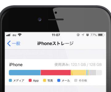 空き容量がもうあと僅か、少なくなった iPhone のストレージ(保存容量)を確保する方法