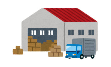 倉庫のイラスト