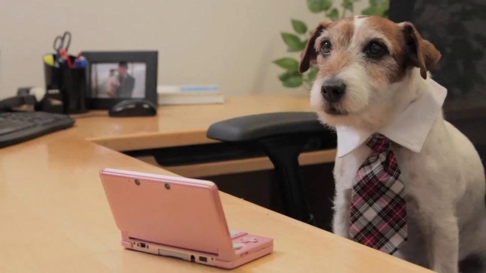 海外:映画『アーティスト』出演の俳優犬アギー、任天堂のスポークスドッグとして初出社