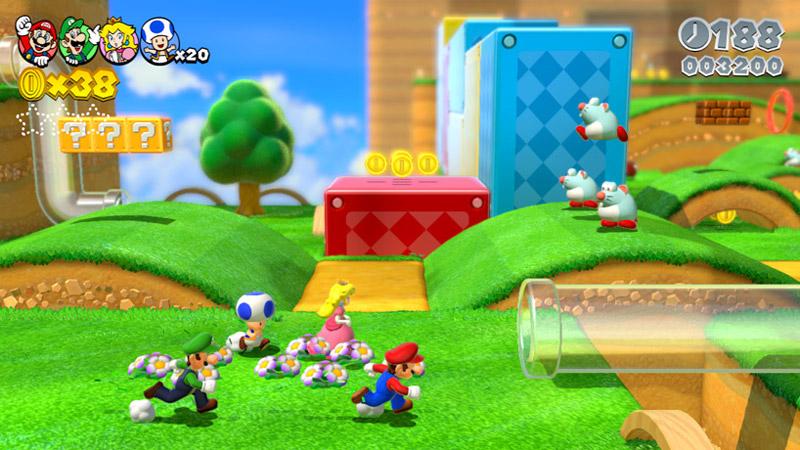 Wii U『スーパーマリオ 3Dワールド』、マルチプレイはローカルにフォーカス