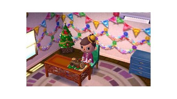 3DS『とびだせ どうぶつの森』、配信プレゼント「きりかぶのスツール」「ブッシュ・ド・ノエル」が再配信