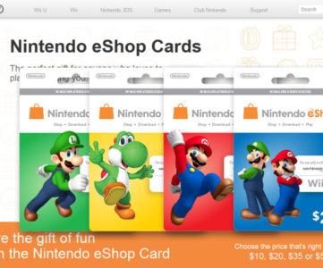 米任天堂、「Nintendo eShop Card(ニンテンドープリペイドカード)」にヨッシーデザインを追加