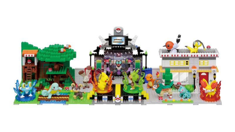 【ナノブロック】『ポケモン モンスターコレクション』を飾る、新サイズのブロックで作るモンコレのジオラマ
