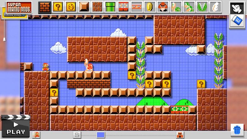 WiiU『マリオメーカー』は初代ドット絵マリオと『NewマリオU』以外のグラフィックも収録。他キャラの構想も