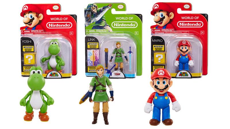 海外の任天堂公式ライセンストイ『World of Nintendo』シリーズに可動フィギュアの新商品、マリオやドンキーコング、リンクなどが登場