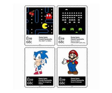 マリオやソニックなど、ビデオゲームを象徴する4キャラクターが切手に。アイルランドで発売