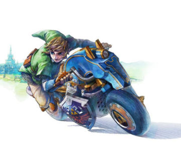 """WiiU『マリオカート8』の「ゼルダDLC」に収録されるリンクのバイク""""Master Cycle"""""""