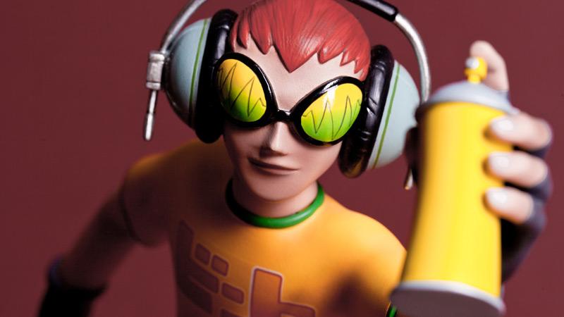 『Jet Set Radio』のビートがF4Fによって高品質なフィギュアに