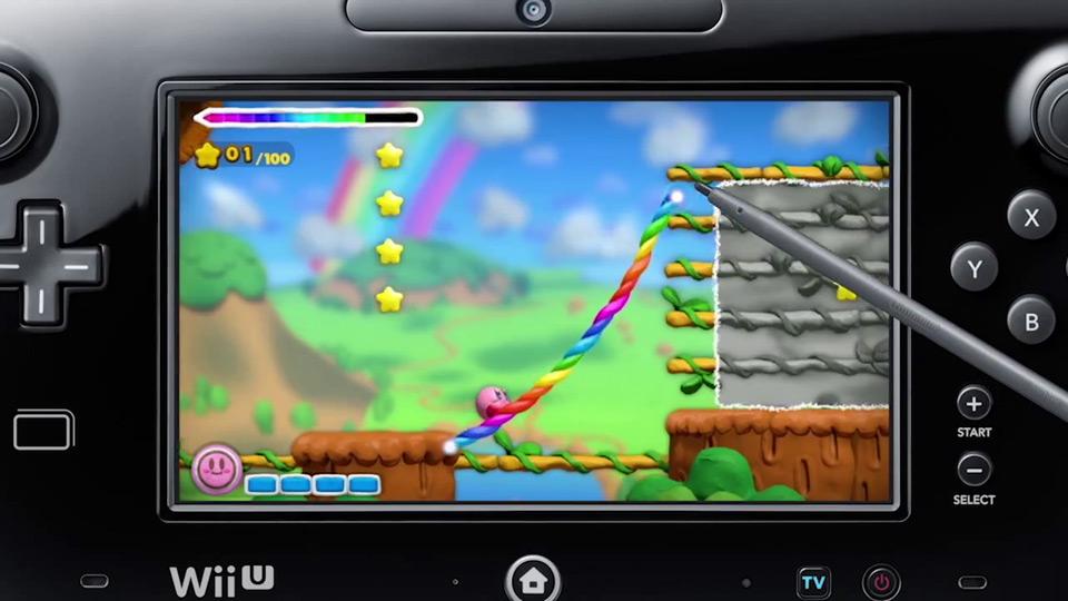 WiiU『タッチ!カービィ スーパーレインボー』、最大4人同時プレイや『amiibo』に対応