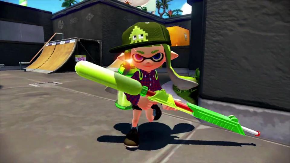WiiU『スプラトゥーン』、武器やファッションを自分好みにカスタマイズしてイカしたイカになる