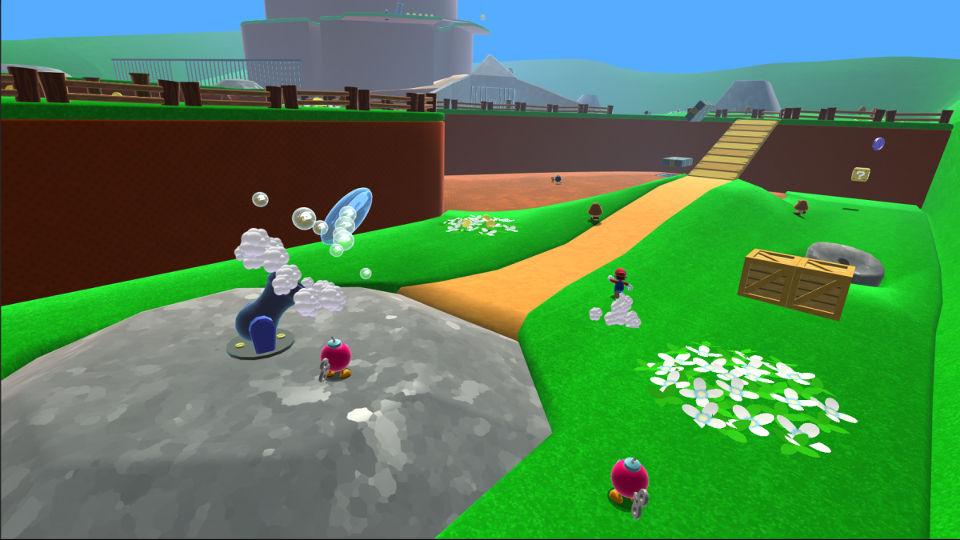 『スーパーマリオ64』の「ボムへいのせんじょう」HDリメイク、任天堂からの要請により削除