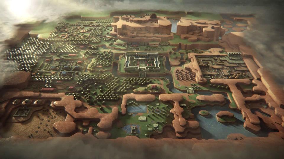 """『ゼルダの伝説 神々のトライフォース』の舞台ハイラルを『Game of Thrones』OP風に再構築した見事なマッシュアップ映像""""Game of Hyrule"""""""