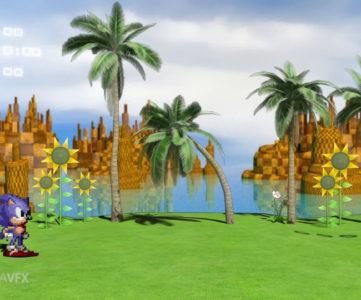2Dドット絵と3Dグラフィックが見事な融合を見せる『ソニック・ザ・ヘッジホッグ HD』映像