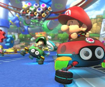 WiiU『マリオカート8』の「GC ベビィパーク」、200ccモード時は1周8秒のめまぐるしい展開