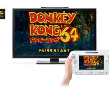 【Wii U】N64やDSのバーチャルコンソールを遊べる、初VC化の『ドンキーコング64』も