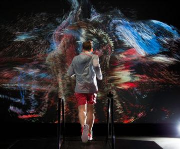 """キネクトの技術を利用した、Nikeの次世代ランニング体験""""Force of Nature"""""""