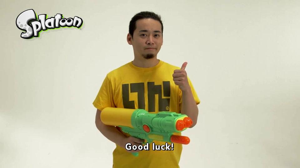 任天堂・阪口DによるWiiU『スプラトゥーン』大型アップデート告知映像「バトルの準備はいいか?健闘を祈る」