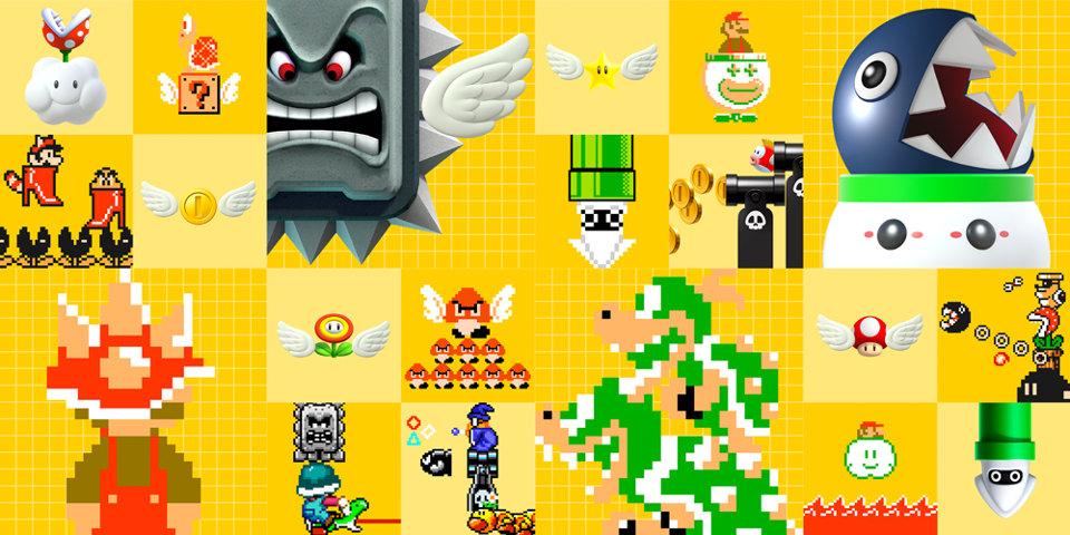 WiiU『スーパーマリオメーカー』、花火や拍手、音楽再生など随所に『マリオペイント』を彷彿させる仕掛け。ツールは段階的に解禁