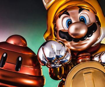ご利益ありそう、WiiU『スーパーマリオ3Dワールド』のまねきネコマリオがF4Fからスタチュー化。全身キラキラの超レアなバージョンも