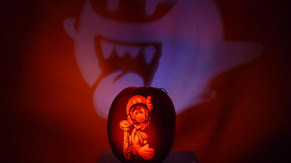 ファンアート:『ルイージマンション2』を題材にした、思わずため息が出るような素晴らしいクオリティのジャック・オー・ランタン