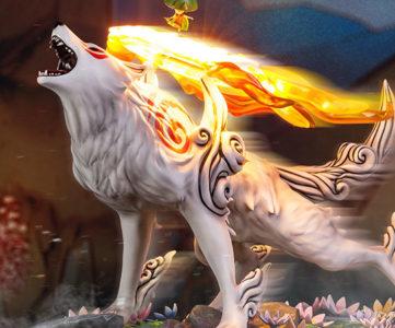 F4Fの新作に『大神』の主人公「アマテラス」、毛並みも美しく白狼が立体化