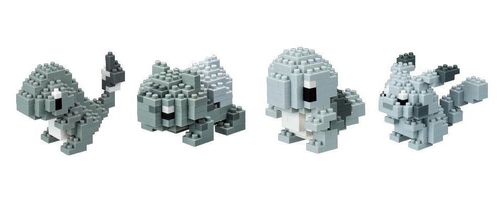 """ナノブロックの『ポケモン』コラボ新作は当時のモノクロ画面を再現した""""モノトーン""""、幻のポケモン「ミュウ」を作れる追加ブロック付き"""