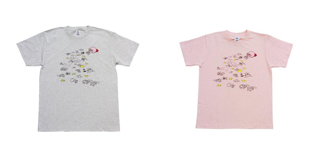 初お披露目の絵も描かれている、Amazon限定「星のカービィTシャツ」の新作「おえかき」