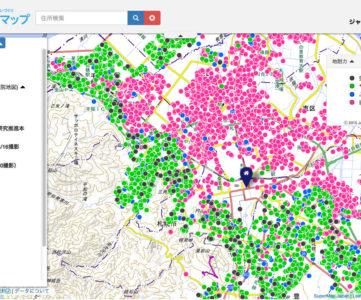 「地盤サポートマップ」で、住んでいる街や気になる住所の地盤がどのくらい安全か調べてみる