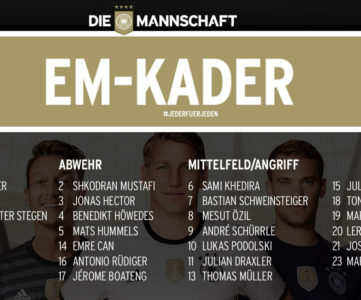 ユーロ2016:ドイツ代表メンバー、W杯に続いてロイスが負傷で落選
