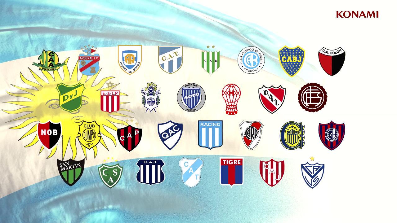 『ウイイレ2017』、アルゼンチン1部リーグ30クラブを収録。リーベル・プレートとはオフィシャルパートナー契約