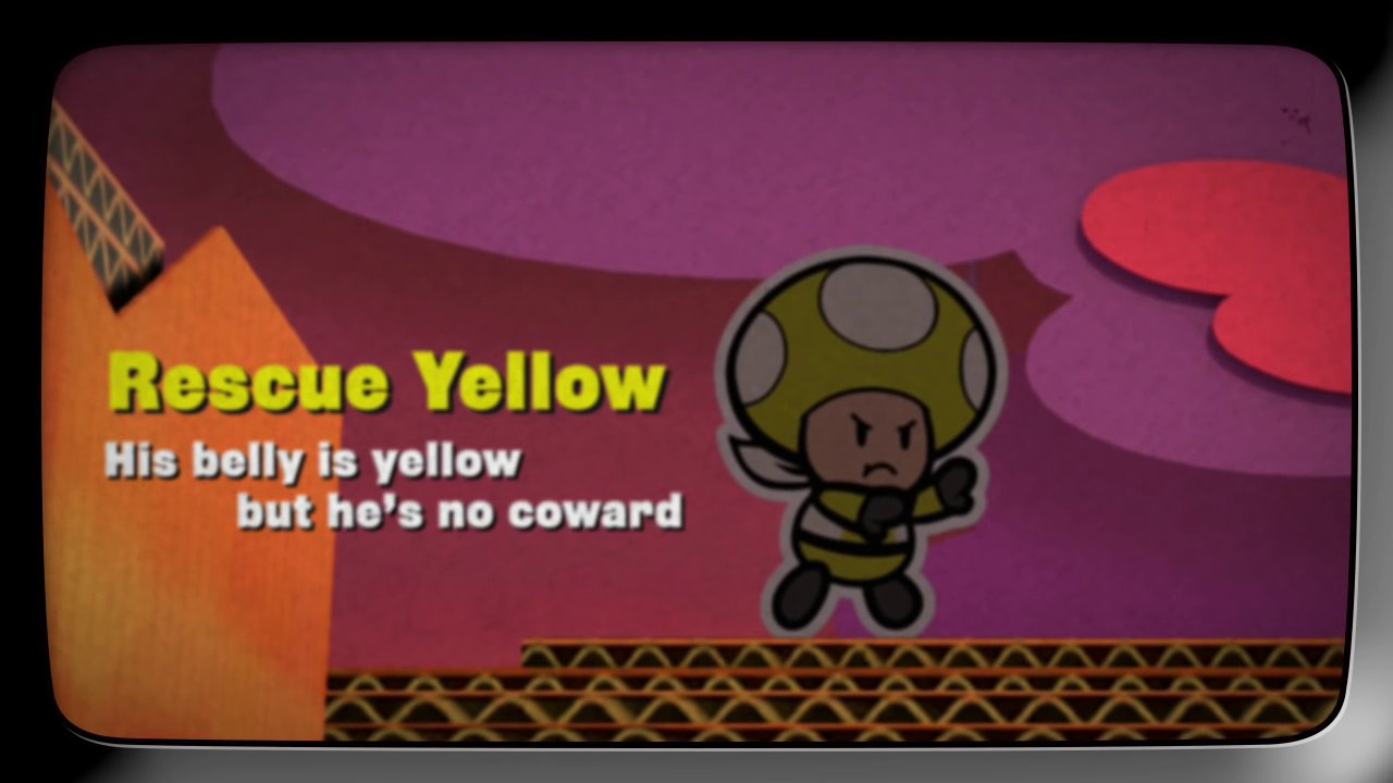 『ペーパーマリオ カラースプラッシュ』のキノピオ達レスキュー隊紹介映像「Rescue V」、エピソード4はイエローが登場