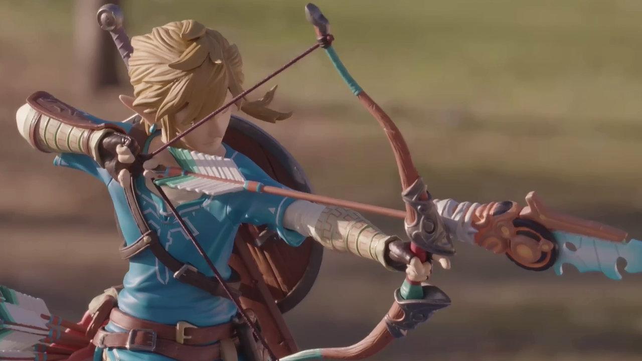 F4F:『ゼルダの伝説 BotW』から弓を引く「リンク」の10インチスタチュー