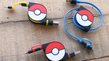 2in1 Retractable USB Cable with Lightning & micro USB POKEMON version