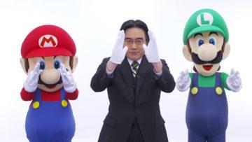 任天堂・岩田聡社長 & マリオ、ルイージ
