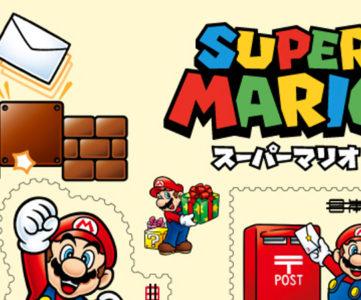『スーパーマリオ』のグリーティング切手が6月28日に発行、発売日の1日限定でマリオの消印も