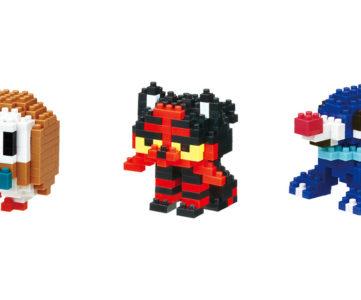 ポケモン×ナノブロック:『ポケモン サン・ムーン』の御三家モクロー、ニャビー、アシマリが nanoblock に。ポケセンオリジナル商品