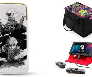 任天堂純正の Nintendo Switch 周辺機器、持ち運びに便利な『スプラトゥーン』柄ボックスや『ゼルダ』『ARMS』『マリカ』仕様の本体収納ポーチなど