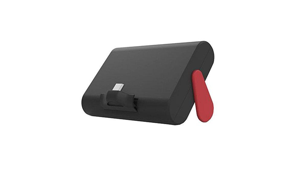 Nintendo Switch 本体を約1.6回フル充電できる大容量モバイルバッテリー、「テーブルモード」時のスタンドとしても使用可能