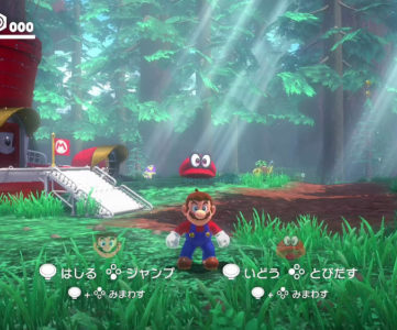 『スーパーマリオ オデッセイ』は2人プレイに対応、帽子のキャッピーを操作してマリオをアシスト