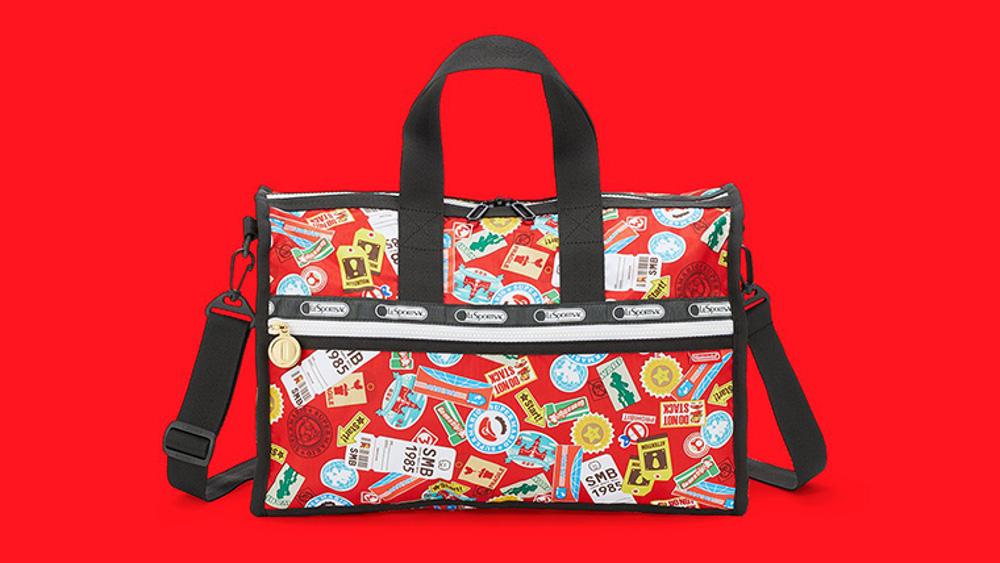 任天堂×レスポートサック、スーパーマリオデザインのバッグや初代ゲームボーイのポーチなどが登場