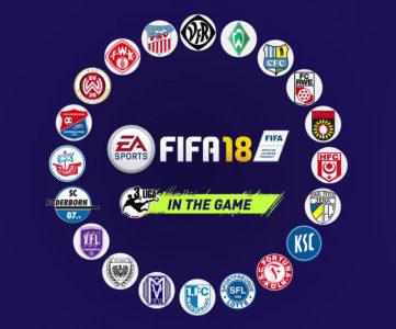 『FIFA 18』、ドイツ・ブンデスリーガ3部「3. Liga」を収録